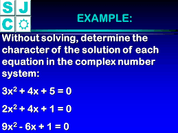 example without solving determine the character of the solution of each equation in the