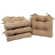 chair cushion seat set of 4 pad patio outdoor garden dining furniture with ties