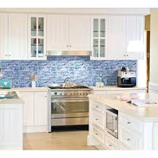 mosaic backsplash ideas blue glass stone mosaic wall tiles gray marble tile kitchen ideas bathroom tile