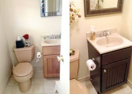 gel staining bathroom cabinets for an