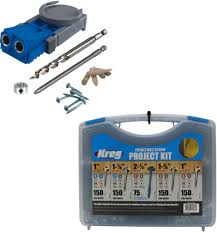 Details About Kreg Jig R3 Pocket Hole System And Pocket Hole Screw Project Kit In 5 Sizes