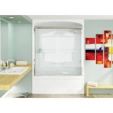 bypass shower door. Mirolin BD53 Bypass Shower Door Plain Silver