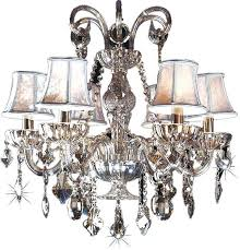 6 light smoke crystal chandelier lighting avenue glass