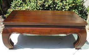 distressed teak wood opium legs coffee table