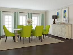 glorious green dining room ideas with modern green upholstery dining chair set added square rug on dark floors ideas