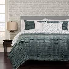 interweave 6 piece duvet cover set with duvet insert