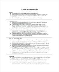 Professional Statement Examples Amazing Examples Resume Summary Statements Professional Style Synopsis