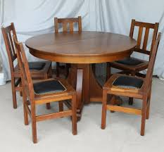 antique dining room chairs oak. Unique Antique Bargain Johnu0027s Antiques  Mission Oak Antique Dining Set  Stickley  Brothers Table U0026 Chairs Inside Room M