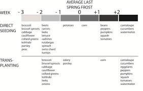 Idaho Chart On When To Plant Veggies Boise Avg Last Frost