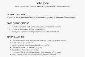 resume example for skills section