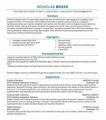 Electrical Designer Resume Sample Designer Resumes