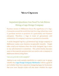 Design Work Experience Melbourne Logo Design Company Melbourne By Yesopen18 Issuu