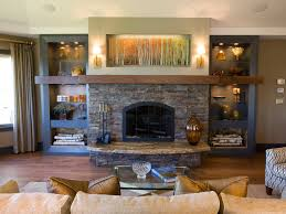 living room with stone fireplace. living room design with stone fireplace