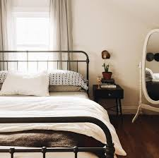 iron bedroom furniture. wrought iron bed midcentury bedside table bedroom furniture