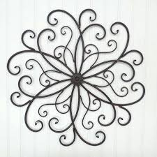 iron wall hangings large wrought iron wall decor you pick colors metal wall decor rust wrought iron flower scroll bedroom wall garden decor outdoor decor