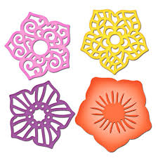 Paper Flower Cutting Tools Layered Flowers Paper Crafts