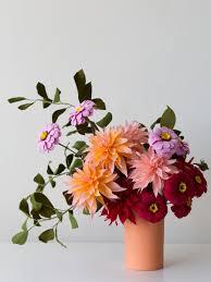 Dahlia Flower Making With Paper Make A Paper Dahlia Flower The Design Files Australias
