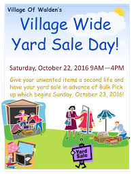 village wide yard day 10 22 16 the village of walden yard flyer