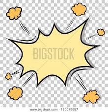 transpa background with boom ic book explosion vector design pattern