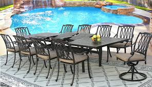 fresh 11 piece patio dining set and cast aluminum outdoor patio set extendable dining table series