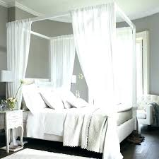 sheer curtains for canopy bed – almona