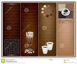 Coffee Shop Brochure Template Coffee Brochure Template Stock Vector Illustration Of Design 24 14