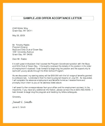 Email Sample For Job Sample Job Acceptance Letter Via Email Faxnet1 Org