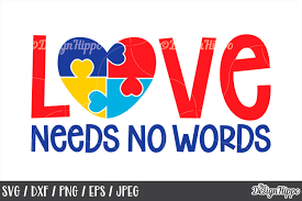 ✓ free for commercial use ✓ high quality images. Autism Awareness Love Needs No Words Puzzle Piece Svg Dxf 214597 Cut Files Design Bundles