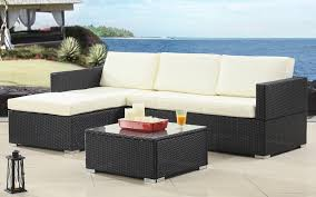 modern outdoor sectional. Hilo Modern Outdoor Sectional With Coffee Table In Ivory And Black E