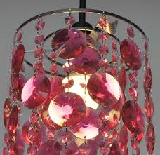hanging easy fit ceiling shade acrylic droplet ceiling light rose pink litecraft