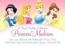Disney Princess Birthday Invitations Free Online Invitation Template