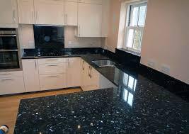 Black Granite Countertops With White Cabinets Decor Studios