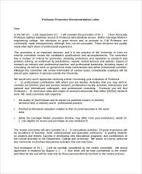 Faculty Promotion Letter Of Recommendation Sample Faculty Promotion Letter Of Recommendation Sample
