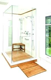 teak shower stool benches bamboo vs seat bench with shelf bathroom chairs and handicap wood for swivel shower chair