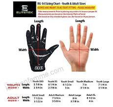 Youth Glove Size Chart Football Elitetek E 17 Football Gloves Youth Adult B071lqx8fx