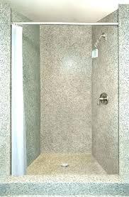 quartz shower surrounds a beautiful 3 panel