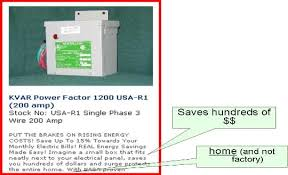 kvar power factor correction in the home is a scam Power Factor Correction Wiring Diagram power factor fraud ad power factor correction capacitor wiring diagram