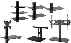 tv mount with shelf. gforce wall mount component shelves with tv combo options: tv shelf