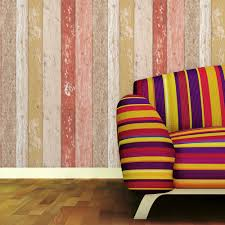 Dikke Geweven Vinyl Vintage Hout Behang 3d Houten Plank Retro Muur