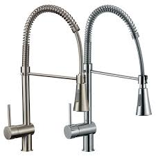 Freuer Lavoro Collection Pull Down Spray Kitchen Sink Faucet Brushed Nickel