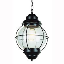 bel air lighting lighthouse 1 light outdoor hanging black lantern with seeded glass 69906 bk the home depot