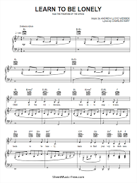 Play more, pay less with pass. Learn To Be Lonely Sheet Music Andrew Lloyd Webber Sheetmusic Free Com