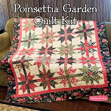 Poinsettia Garden Quilt Kit Featuring Wintergreen by 3 Sisters ... & Poinsettia Garden Quilt Kit Featuring Wintergreen by 3 Sisters - Fat  Quarter Shop Adamdwight.com
