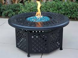 propane fire pit coffee table outdoor living series cast aluminum antique bronze round propane fire pit