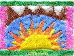 try your hand at a version of the beautiful and intricate art of the southwestern native american tribes sand painting learn about what it means to the