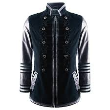 impero london mens luxury admiral style military navy leather jacket