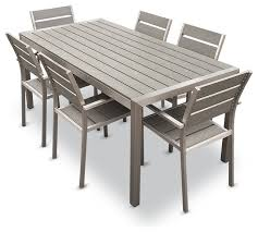 gray outdoor patio set. gray retcangle rustic wooden patio furniture dining set with chairs and table design: outdoor