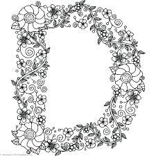 Letter D Coloring D Coloring Page Alphabet Coloring Pages Letter D