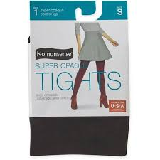 No Nonsense Size Chart Tights No Nonsense Womens Super Opaque Control Top Tights