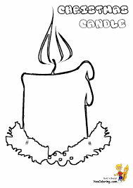 Small Picture Wreaths and Candles Coloring Pages